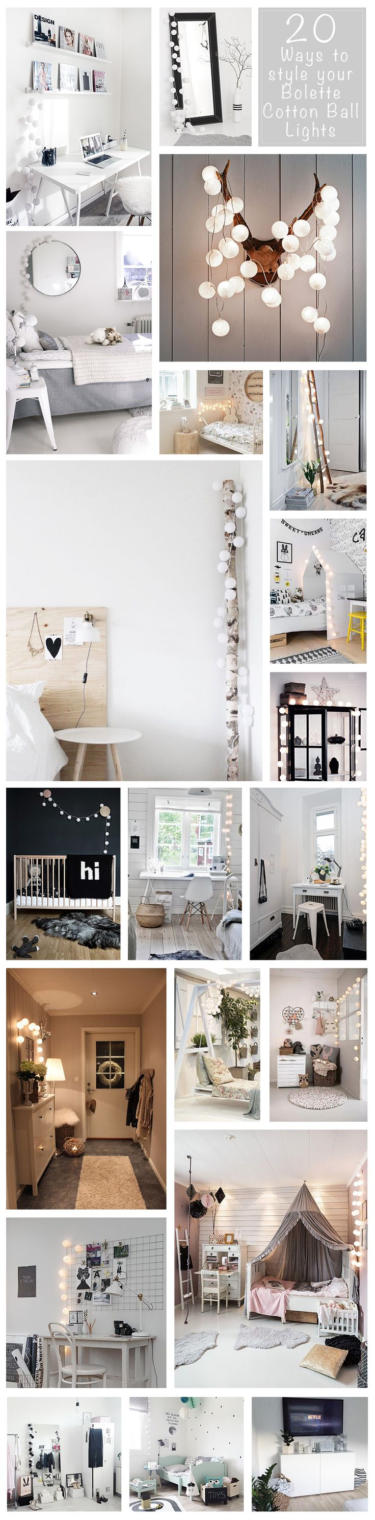 20 Ways to style your Bolette Cotton Ball Lights