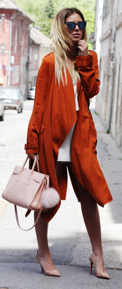 Orange Duster Outfit Idea by Zorannah.