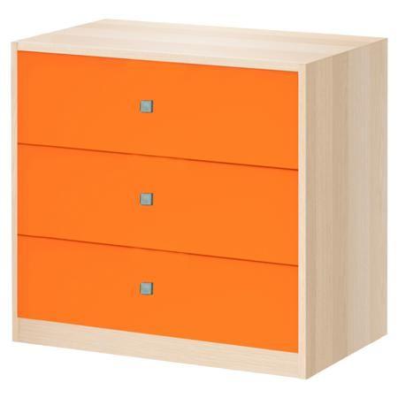 РВ мебель дуб молочный/оранжевый  — 4500р. --------------------- Комод дуб молочный/оранжевый РВ мебель очень практичный. Этот предмет мебели не будет лишним ни в комнате младенца, ни в спальне подростка.