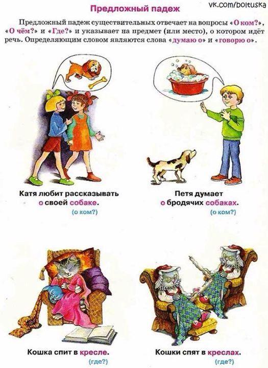 Предложный падеж. РКИ. Дети-билингвы.