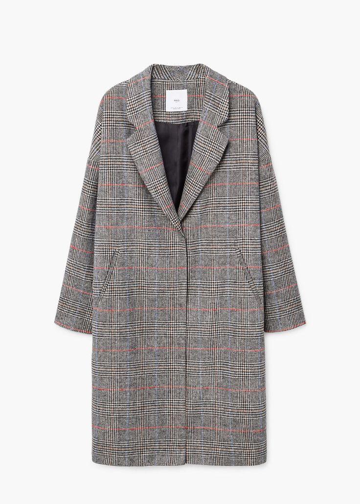 Checkered overcoat | MANGO
