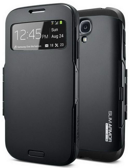 Best Samsung S4 Case - SPIGEN SGP Slim Armor View Case for Samsung Galaxy S4