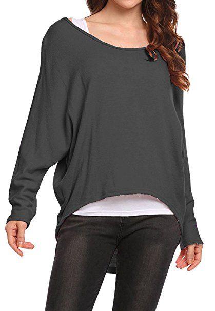Neu Frauen Farbe Block Casual Rundhals Pullover Tops Jumper Lose Damen WinterFashion Pullover Tops