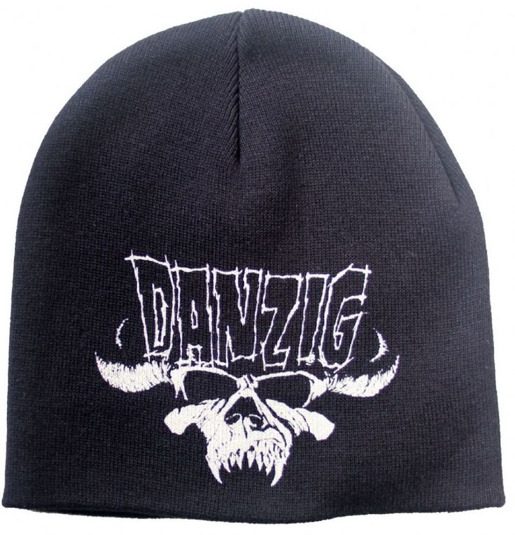 Official Danzig Black Beanie Hat featuring the Logo Skull design printed on the front Officially Licensed Merchandise See all Danzig Band Merch or