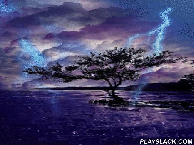 Lightning, Thunderstorm HD LWP  Android App - playslack.com ,  Bliksem, onweer, HD live achtergrond. Mooie gekleurde blikseminslag op het telefoonscherm. Elektrische ontladingen, regen, vloeiende wolken, golvende water, het is alles wat je op dit mooie wallpaper.Het behang heeft drie achtergronden om uit te kiezen: stad bij nacht, nachtelijke hemel boven het water, mooie boom en water. In de instellingen kunt u inschakelt regen, onweer en regen geluiden ook.In geval van problemen met de…