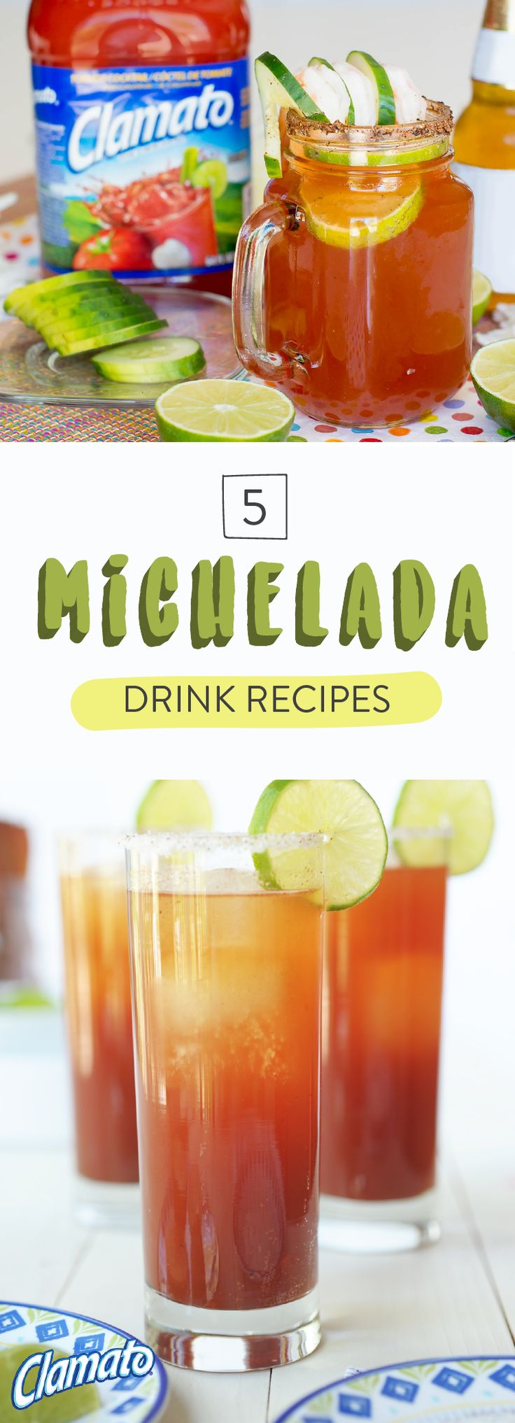 Consider this collection of 5 michelada drink recipes as your go-to for delicious cocktails all summer long. From a Michelada with Sweet and Spicy Bacon to a Mexican Michelada with Spicy Mangos, each of these boozy combinations has sweet, heat, and of course—Clamato®! Pick up all the items you need at your local Albertsons, Safeway, Pavilions, Tom Thumb, or Vons store—making planning your fiesta so much easier!