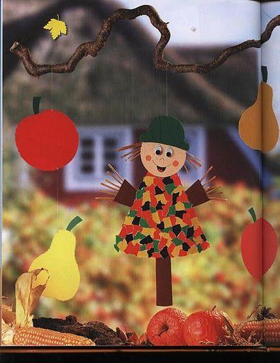 Topp - Herbstzeit-bastelzeit / Őszi ablakképek és kreatív ötletek