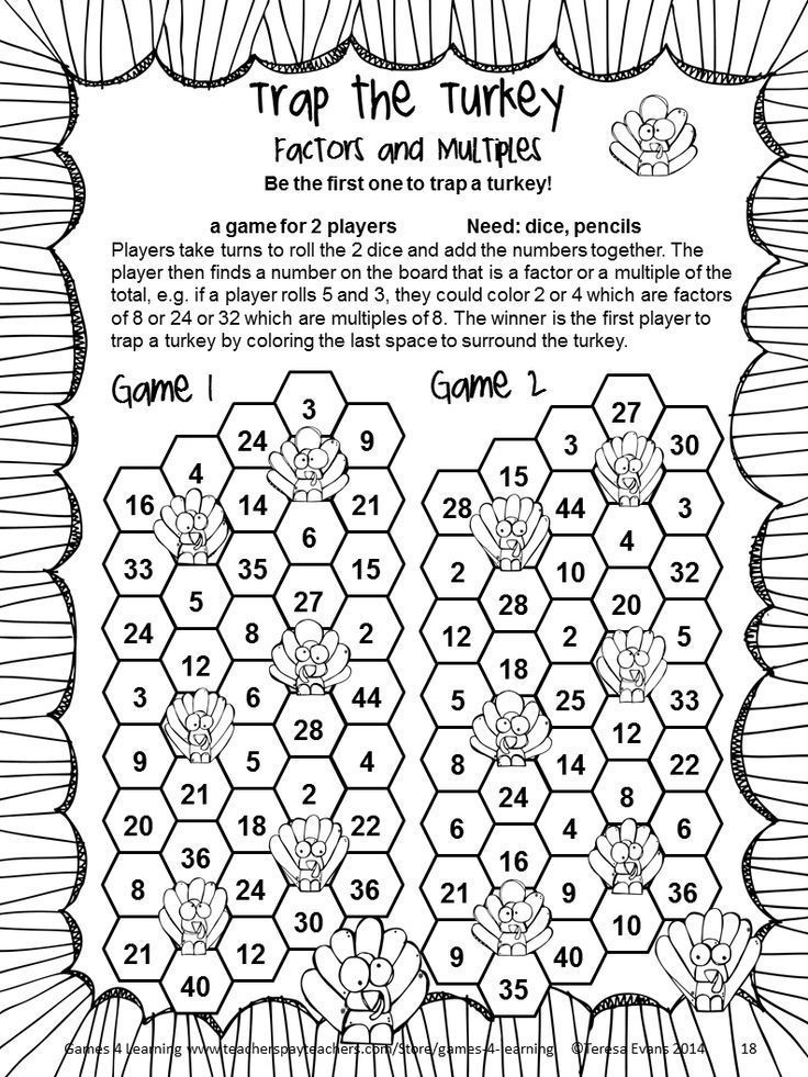 Thanksgiving Math Games Fourth Grade by Games 4 Learning for bringing some fun, Thanksgiving math into the classroom. $