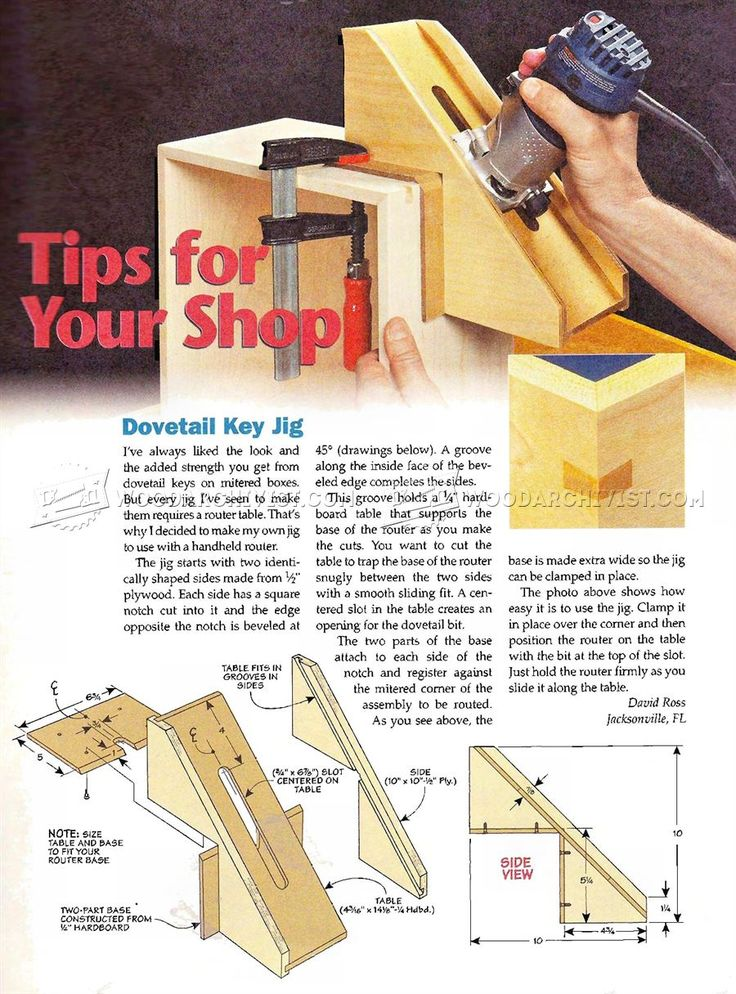 Dovetail Key Jig - Joinery Tips, Jigs and Techniques  | WoodArchivist.com
