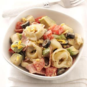 Caesar Tortellini Salad Recipe from Taste of Home -- shared by Diane Macey of New Lenox, Illinois