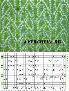 Узор 842| каталог вязаных спицами узоров