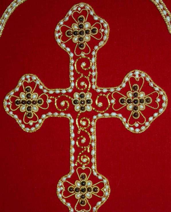 Крест на индитию красный. Фрагмент