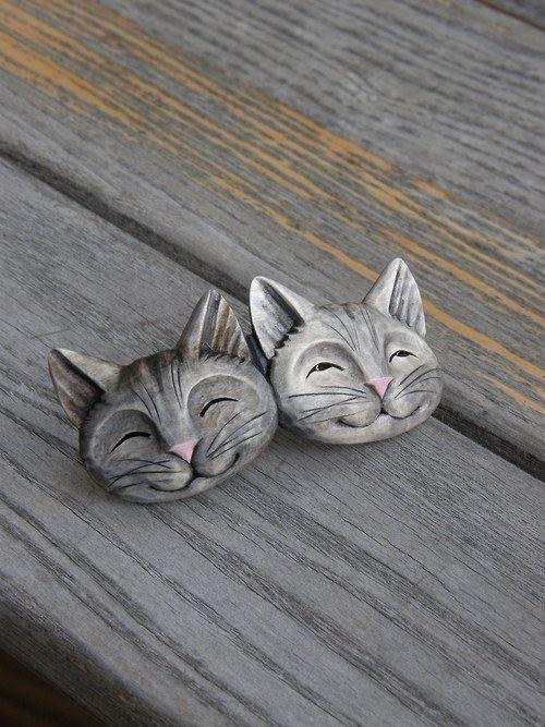 Dvě kočičky ... sponka do vlasů