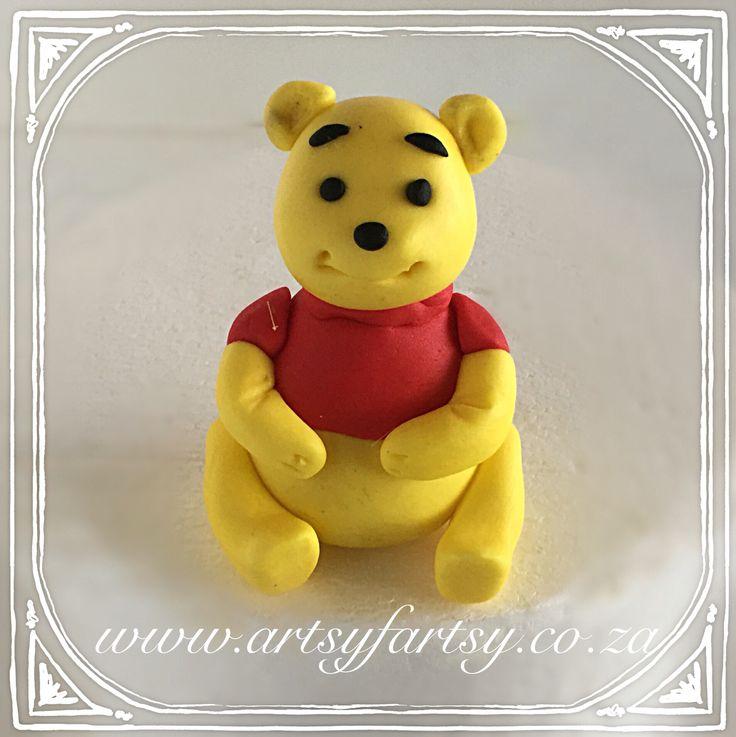Winnie the Pooh Sugar Figurine #winniethepoohcaketopper