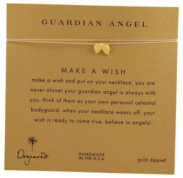 Dogeared Make A Wish Guardian Angel Necklace Necklace