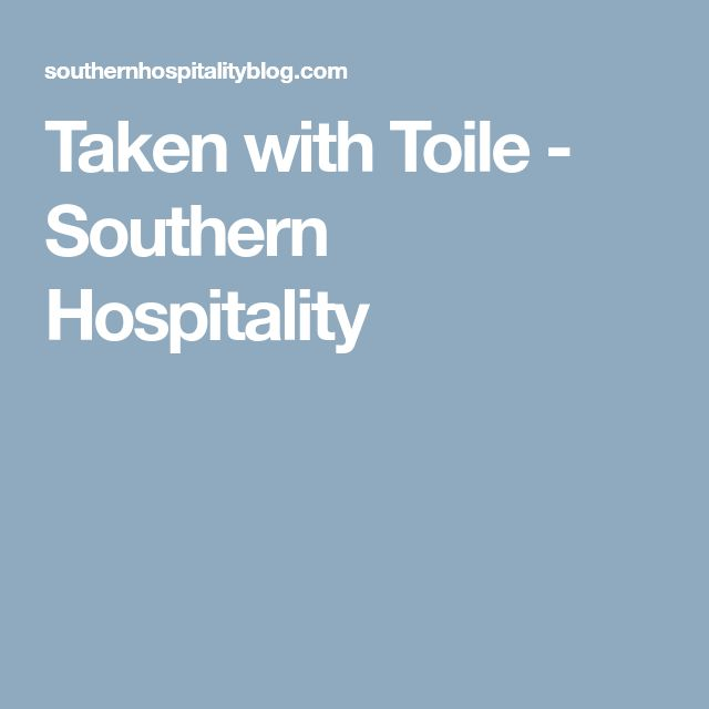 Taken with Toile - Southern Hospitality