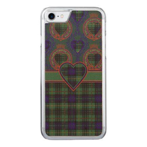 Conacher clan Plaid Scottish kilt tartan Carved iPhone 8/7 Case #tartan #protective #cases