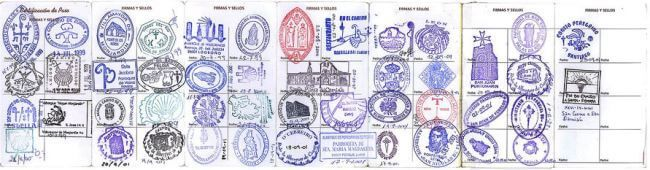 Pilgrim Passport & Compostela are vital pilgrim documents for the Camino. The Passport requires at least 2 stamps a day for walking the last 100 km.