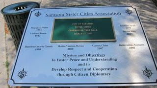 Sarasota Sister Cities: New signage at Sarasota Sister Cities Ceremonial T...