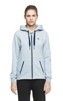 Onepiece Out Zip Hoodie Light Blue Melange