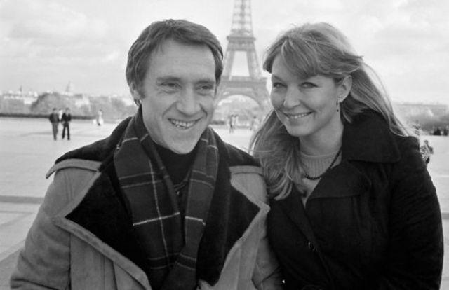 Владимир Высоцкий и Марина Влади в Париже, 1977 год. Vladimir Vysotsky and Marina  Vlady in Paris, 1977.