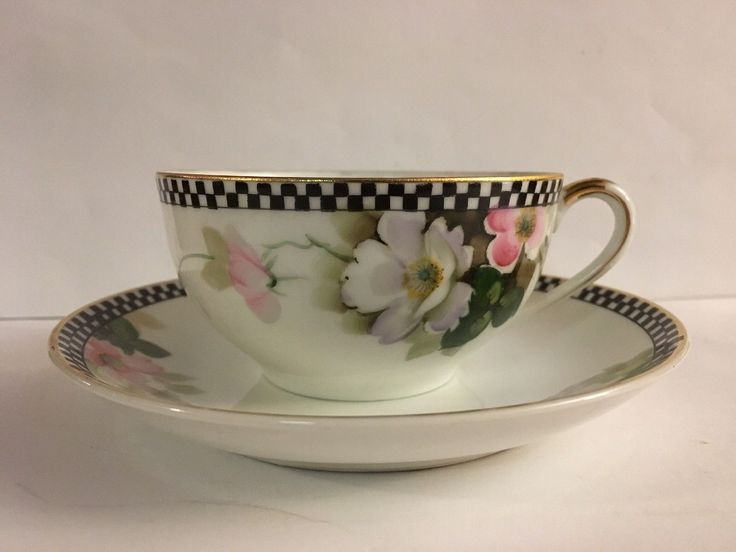 "NORITAKE China Tea Cup and Saucer Gold Trim Floral White Pink - $6.99. Good condition as found - please look carefully at photos If you wish to purchase multiple items I will be happy to adjust shipping costs if I am able to do so. To do so please ""buy"" the items and message me for an adjusted invoice BEFORE you pay. Additionally, if I find based on your zip code and item weight, a less costly method of shipping than the option listed I will use that method and refund you the 152866..."
