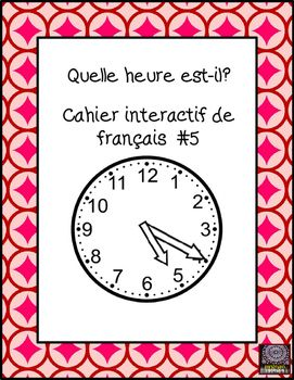"This cahier interactif for French concentrates on ""telling time"" activities.  Great for practising time on a traditional clock and also to reinforce numbers.  Included is an activity to differentiate between ""du matin"", ""de laprs-midi"", and ""du soir""."
