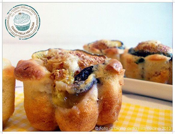 Minicake con formaggio di capra speck basilico e fichi  Cake cheese and basil