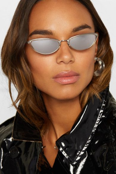 c832f88b05 Linda Farrow - Cat-eye acetate mirrored sunglasses