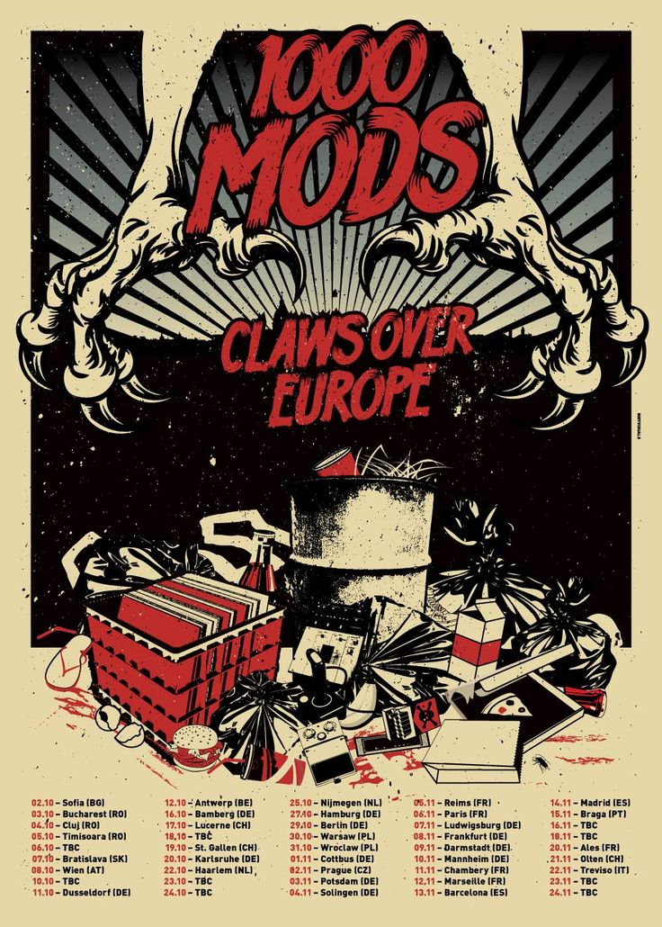 1000 Mods Europe Poster by Design Insane