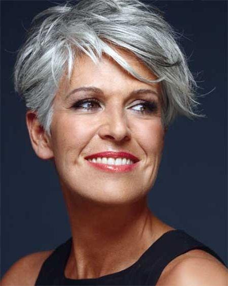25 beautiful short gray hairstyles ideas on pinterest short image for short gray hairstyles more urmus Gallery