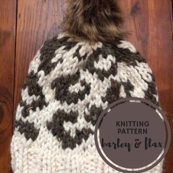 02e54054981f KNITTING PATTERN Animal Attraction Leopard Print Pompom Hat PDF Knit  Instructions Instant Download in 2019 | Products | Knitting patterns, Hats, Pom  pom hat