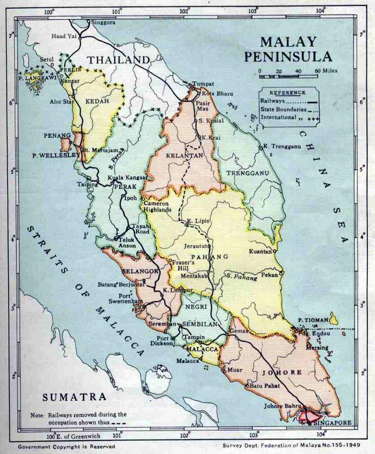 Map of Malaya