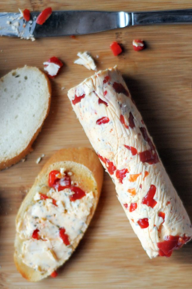 Rosemary and Roasted Red Pepper Butter adds extra flavor and tons of color to any dish. Spread on bread, toss with warm fresh veggies, or melt a pat on top of your favorite protein.