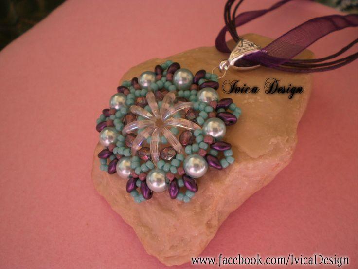 Purple Mandala Pendant <3 Follow me on my Facebook page:https://www.facebook.com/IvicaDesign/ Or buy my bead jewelrys on:https://porteka.com/hu/ivica#