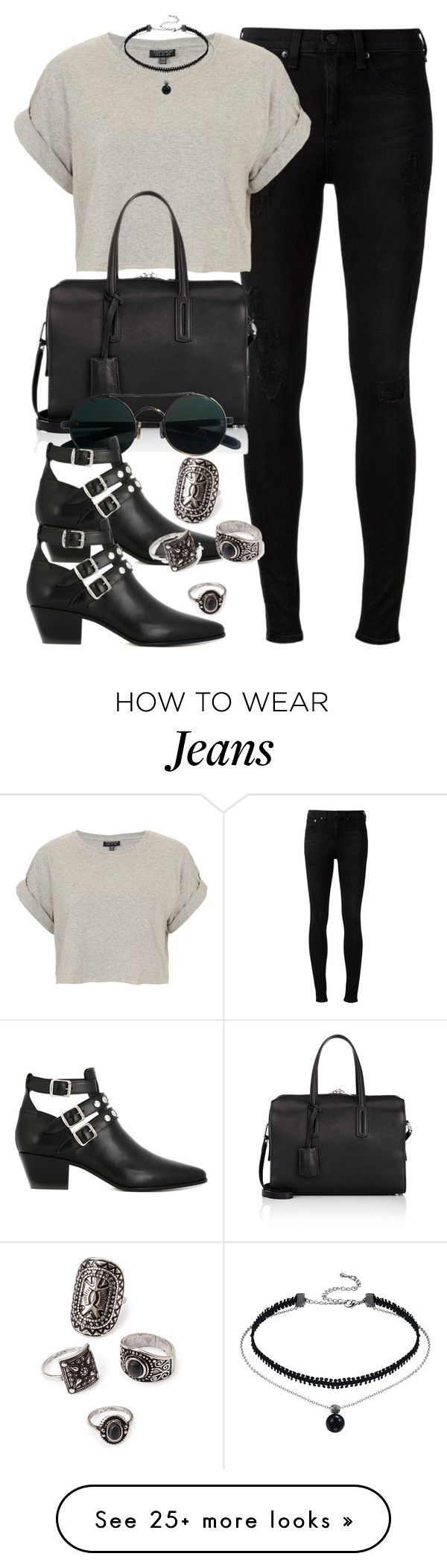"""Style #10783"" by vany-alvarado on Polyvore featuring rag & bone, Topshop, Byredo, Yves Saint Laurent and Forever 21"