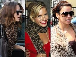 7) A Printed scarf. Choose either a colorful pattern or leopard print as the perfect winter accessory.  Wear one with a solid black dress or to add some style to skinny jeans and a boxy sweater.