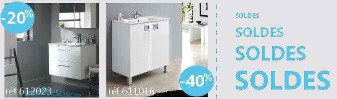 #planetebain #salledebain #soldes  Meubles de salle de bain simple vasque coloris blanc. A suspendre ou semi-suspendu ?