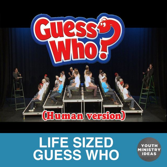 Guess Who! Use the students in your group as the characters in the game! Youth Ministry Ideas and Games.
