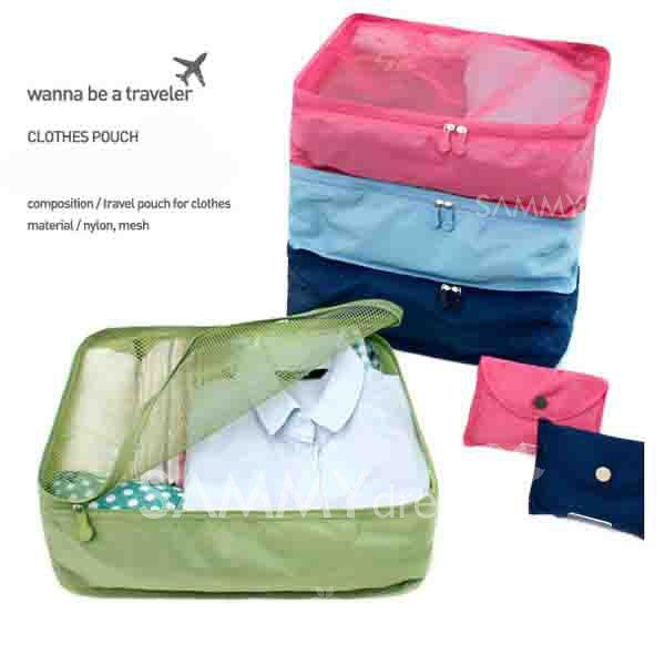$3.70 S Size Foldable Waterproof Nylon Clothes Pouch Storage Bag for Travel