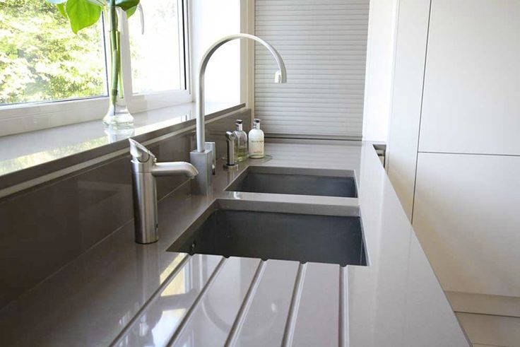 Quartz worktops. Granite is dead, and Quartz is the worktop of choice. Manmade and non-porous, it's the best hardwearing material on the market!