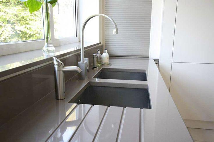 Grey Quartz Worktop And Kitchen Sink Worktops
