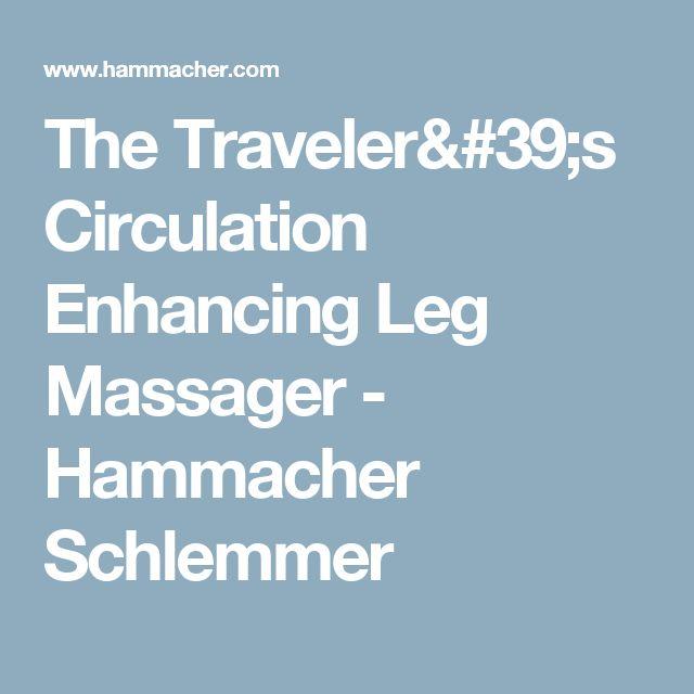 The Traveler's Circulation Enhancing Leg Massager - Hammacher Schlemmer