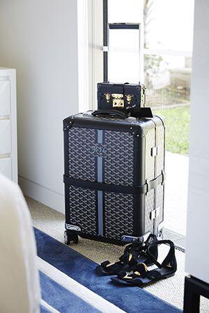 Goyard Bourget suitcase via @beauticate @roxyjacenko