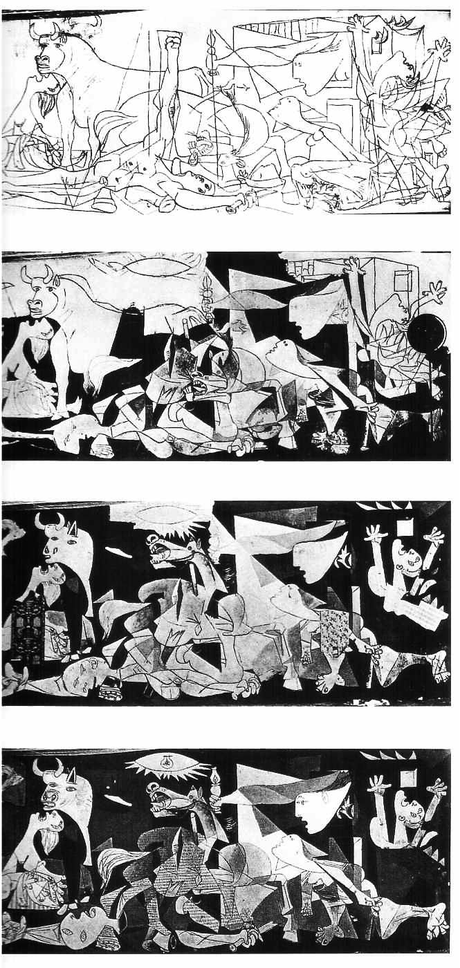 Development of The Guernica. One of my favourite Picasso paintings.
