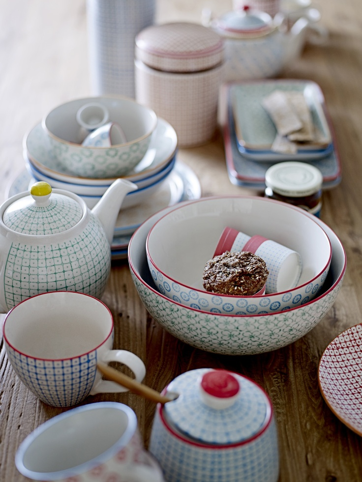 Carla and Emma tableware from Bloomingville <3 www.bloomingville.com