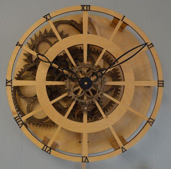 Legacy Wooden Clock Kit от WoodenGearClocks на Etsy