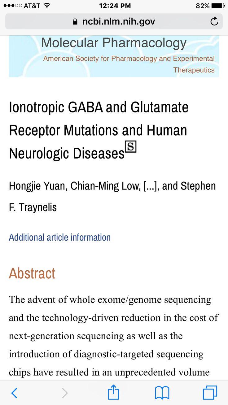 Gaba glutamate receptors