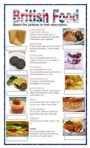 English worksheet: Typical london food
