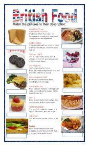 English worksheet: Typical london food